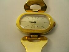 Original Ancho 1970er Años 70 Reloj de Mujer Pulsera Vintage Metal Mecánico