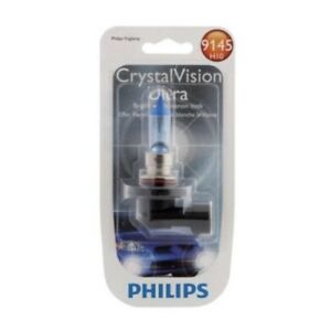 NEW PHILIPS 9145 SET 2 BULBS H10 CRYSTAL VISION ULTRA 45W HEADLIGHT HALOGEN 12V