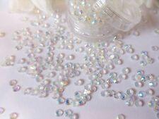 3mm clair ab strass perle gem pot app 350 dos plat mariage nail art craft