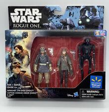 Star Wars Rogue One Set Jyn Erso Captain Cassian K-2SO Walmart Exclusive Figures