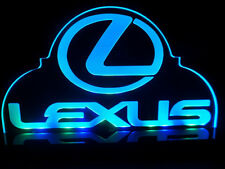 Lexus car Logo Premuim Auto LED Neon Light Desk Lamp Man cave room Garage Signs