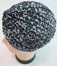 Black And White Leopard Print Turban Vintage For Hair Loss Or Fashion