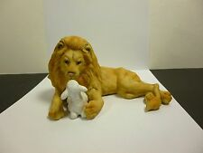 1987 ENESCO PEACE ON EARTH LION AND LAMB FIGURINE BY BETTY CHAISSON