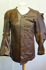 VINTAGE GERMAN SAUER COWHIDE LEATHER COMPETITION SHOOTING JACKET SIZE S