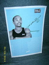 Suga Ray Leonard Everlast Boxing Autographed Poster