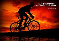 Lance Armstrong vélo / inspiration / motivation poster