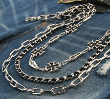 AK Iron Cross Mark Three link Jean Wallet Key Chain 78