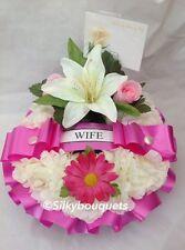 Artificial Silk Flower Wreath Tribute Memorial Mum Nan Sister Gran