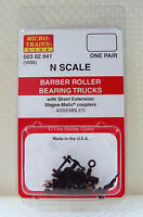 Micro-Trains 00302041 N 1035 Barber Roller Bearing Trucks w/Short Ext. Couplers
