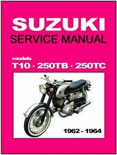 SUZUKI Workshop Manual T10 250TC 250TB 1962 1963 1964 1965 1966 1967 1968 1969