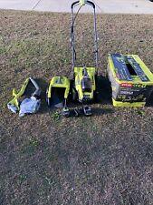 Ryobi 13'' One+ 18-Volt Lithium-Ion Cordless Battery Push Lawn Mower & Trimmer