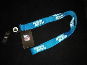 Carolina Panthers Badge Reel with Lanyard * Extras Ship FREE *  NEW NFL Licensed