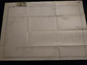 Antique Vintage US Navy Nautical Chart Aeronautical Map Pacific Christmas Island