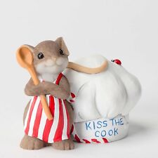 "Charming Tails Mouse Figure 2.5"" Whatcha Waiting For/Kiss the Cook #4027101 Nib"