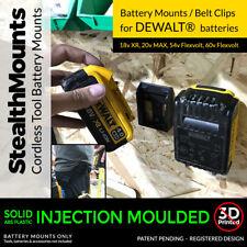 5x stealthmounts batterie mounts for dewalt 18v-stealth batterie système de stockage