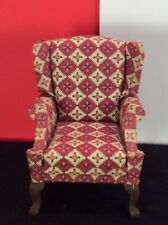 Vintage Wing Chair Dollhouse Miniature