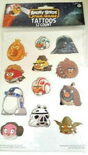 ANGRY BIRDS Star Wars Temporary Tattoos 12 CT. NEW