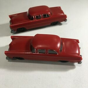 RED CARS FOR LIONEL CAR HAULER Set of 2 Plastic GOOD CONDITION