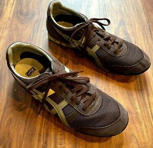 Men's Asics Onitsuka Tiger Running Shoes Size 12 Brown Beige Mesh Sneaker D00CJ