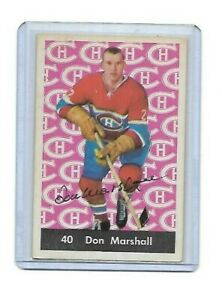 DON MARSHALL 1961-62 PARKHURST MONTREAL CANADIENS AUTOGRAPH CARD