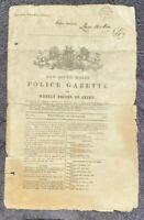 1862 New South Wales POLICE GAZETTE rewards, prisoners, RARE, free EXPRESS W/W