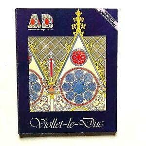 AD A.D. Architectural Design n. 27 1980 Viollet-le-Duc numero monografico