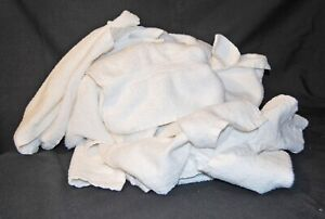 5 Lbs. NEW WHITE COTTON TERRY CLOTH CLEANING, WIPING CLOTHS, RAGS 1st QUALITY