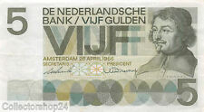 Nederland - Netherlands 5 Gulden 1966 Vf , Pr serial 3PH065263