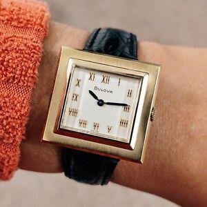 1969 BULOVA Watch 17 Jewels Cal. 6CL M9 Swiss Made Vintage Wristwatch