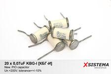 20 x 0,07uF 200V KBG-I [КБГ-И] Vintage PIO Capacitors. Rare!