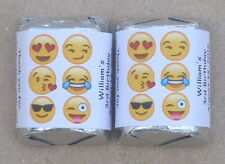 30 EMOJI BIRTHDAY PARTY PERSONALIZED NUGGET CANDY WRAPPER LABELS FAVORS