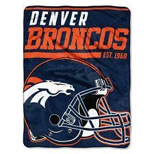 "New NFL Denver Broncos Soft Micro Rasche Large Throw Blanket 46"" X 60"""