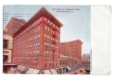 New Orleans New St. Charles Hotel Postcard 1912