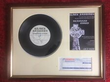 Headless Cross Black Sabbath Signed Single Tony Iommi, Hammersmith Ticket Framed
