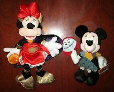 2 x Halloween Minnie Mouse Plush Toys Mickey Disney