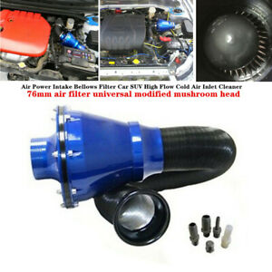 Universal Air Intake Bellows Filter Car SUV High Flow Cold Air Inlet Cleaner Kit