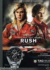 Publicité advertising 2013 La Montre Tag Heuer Carrera Calibre 1887 film Rush