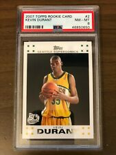 2007-08 Topps Kevin Durant #2 Rookie PSA 8