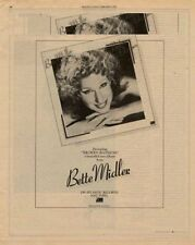 Bette Midler LP advert 1978 RS-ADFR