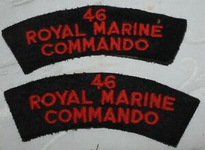 WW2 46 ROYAL MARINE COMMANDO PATCH PAIR WORLD WAR II BADGE SSB D DAY