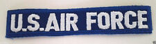 "US AIR FORCE White On Blue Embroidered 5-3/8"" Name Tape With Borders 022102 HO"