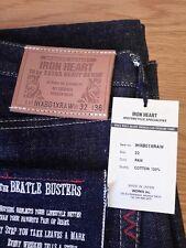BNWT Iron Heart Beatle Busters 18oz RAW Denim Jeans IHXB01XRAW W32 L36