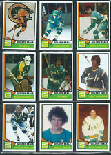 1974-75 CALIFORNIA GOLDEN SEALS Hockey Card Style Team Photo Set 35 Photo Cards