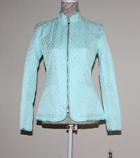 NEW(M005) Anne Klein Women's Quilted Zip Front Jacket Turquoise Sz 12 $129