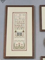 Cross 'N Patch A Friend Loveth Counted Cross-Stitch Sampler Pattern Leaflet