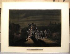 1879 hand col. aquatint, The Turnpike Gate after C.C.Henderson / eng., J.Harris