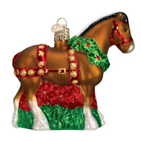 """Holiday Clydesdale"" (12255)N Old World Christmas Glass Ornament w/OWC Box"
