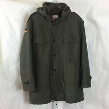 Vintage Original German Army Cold Weather Fur Lined Parka Jacket Mens Green Sz L