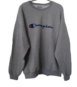 Champion Mens Big Tall LOGO Sweatshirt Athletic Top Retro Pullover 2XL