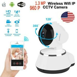 Wireless 1.3MP 960P Pan Tilt Network CCTV IP Camera Night Vision WiFi Webcam US